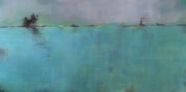 "Nadine Johnson - Drift Away, Acrylic, 96"" x 48"""