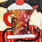 """Tea Time 8"""" x 8 acrylic"""