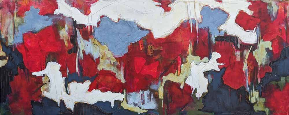 Finders Keepers 60 x 24 acrylic's;ic mixed media