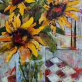 NadineJohnson24x36SunflowersWithLunchacrylicmixedmedia (1)