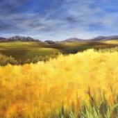Nadine Johnson - Prairie Gold, 48x36, acrylic