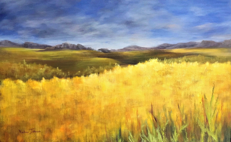 Nadine Johnson - Prairie Gold, 48x36, acrylic